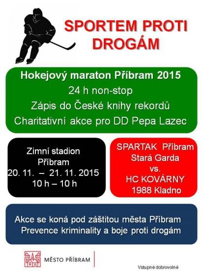 Hokejový maratón Příbram 2015