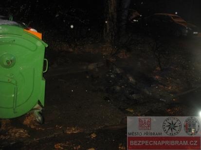 Požár plastového kontejneru na odpad - případ č. 362307.17