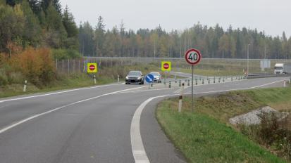 Najetí na dálnici